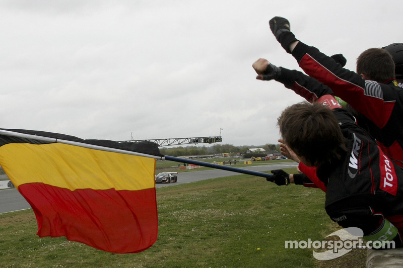 Race winner #32 Belgian Audi Club Team WRT Audi R8 LMS: Stéphane Ortelli, Laurens Vanthoor