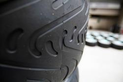 Wet Pirelli tyre