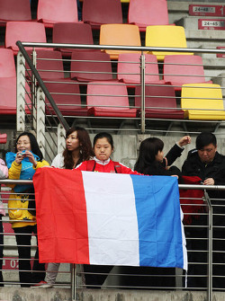 Fans met Franse vlag