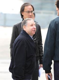 Jean Todt, FIA President with Matteo Bonciani, FIA Media Delegate