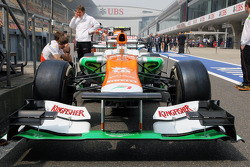 Sahara Force India F1 in the pits