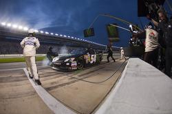 Pit stop for Kurt Busch, Kyle Busch Motorsports Toyota