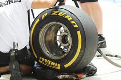 Worn Pirelli tyre for Mercedes AMG F1