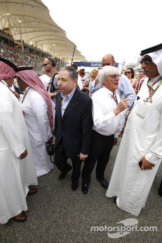 Jean Todt, FIA President en Bernie Ecclestone, FOM