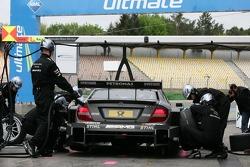 Pitstop Ralf Schumacher, Team HWA AMG Mercedes, AMG Mercedes C-Coupe