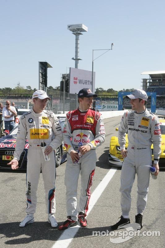 Polepositie Mattias Ekström, Audi Sport Team Abt Sportsline, Audi A5 DTM 3de Dirk Werner, Audi Sport