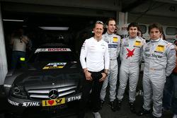 Michael Schumacher, Mercedes Grand Prix with Christian Vietoris, Team HWA AMG Mercedes, AMG Mercedes C-Coupe, Robert Wickens, Mucke Motorsport AMG Mercedes C-Coupe, Roberto Merhi, Persson Motorsport AMG Mercedes C-Coupe