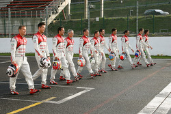 Audi drivers line-up