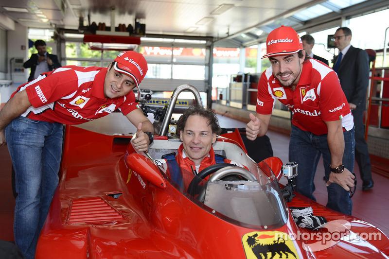 Felipe Massa, Jacques Villeneuve en Fernando Alonso met de 312 T4