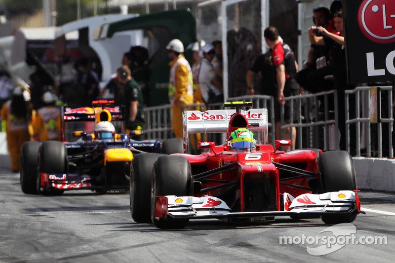 В то время Фелипе Масса еще выступал за Ferrari, а Себастьян Феттель был двукратным чемпионом