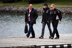 Sergio Perez, Sahara Force India, his Father Antonio Perez Garibay (MEX)