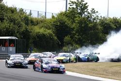 Reinicio después de coche de seguridad, Mattias Ekström, Audi Sport Team Abt Sportsline, Audi A5 DTM líder