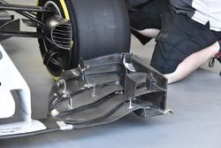Haas F1 Team VF-17, dettaglio anteriore