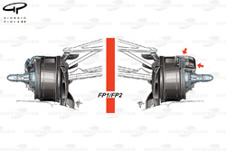Mercedes W08 front brake duct, Friday sessions, Azerbaijan GP