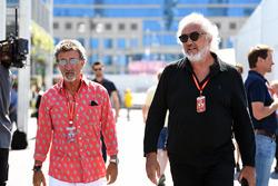 Eddie Jordan, Channel 4 F1 TV and Flavio Briatore