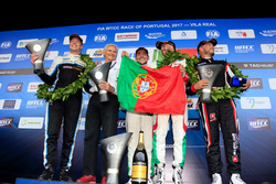 Podium: Race winner Podium: second place Tiago Monteiro, Honda Racing Team JAS, Honda Civic WTCC, Race winner Mehdi Bennani, Sébastien Loeb Racing, Citroën C-Elysée WTCC, third place Thed Björk, Polestar Cyan Racing, Volvo S60 Polestar TC1, second place Thed Björk, Polestar Cyan Racing, Volvo S60 Polestar TC1, third place Tiago Monteiro, Honda Racing Team JAS, Honda Civic WTCC and Rob Huff, All-Inkl Motorsport, Citroën C-Elysée WTCC, Alessandro Mariani, Team Principal Honda Team JAS