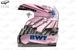 Старе переднє антикрило Force India VJM10
