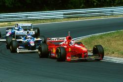 Michael Schumacher, Ferrari F310B, Jacques Villeneuve, Williams F19, Heinz-Harald Frentzen, Williams FW19