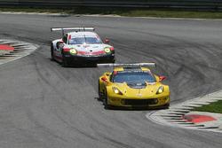 #4 Corvette Racing Chevrolet Corvette C7.R: Oliver Gavin, Tommy Milner, #911 Porsche Team North America Porsche 911 RSR: Patrick Pilet, Dirk Werner