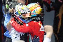 2nd place Fernando Alonso, Scuderia Ferrari and 1st place Pastor Maldonado, Williams F1 Team