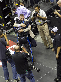 Chad Knaus and the Hendrick Motorsport crew celebrate