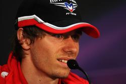 Charles Pic, Marussia F1 Team in the FIA Press Conference