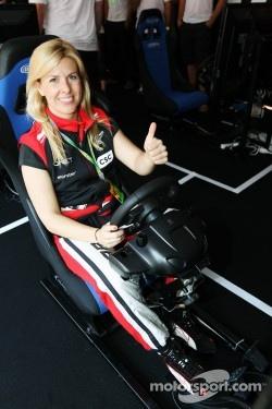 Maria De Villota, Marussia F1 Team Test Driver at the Fanzone