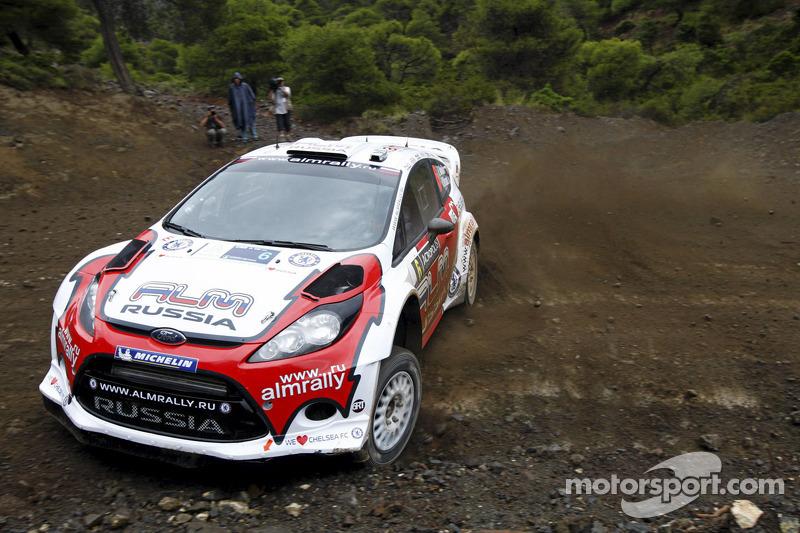 Evgeney Novikov en Denis Giraudet, Ford Fiesta RS WRC