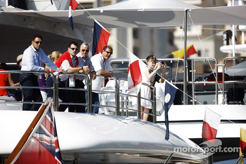 Fans op boot