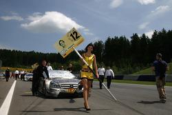 Grid girl of Christian Vietoris, Team HWA AMG Mercedes, AMG Mercedes C-Coupe