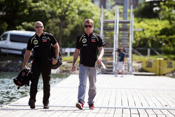 Kimi Raikkonen, Lotus F1 Team with his Personal Trainer Mark Arnall