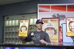 Travis Pastrnan show the sandwich named after him