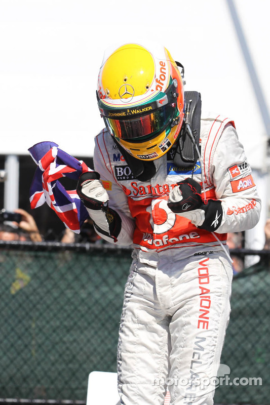 1ste plaats Lewis Hamilton, McLaren Mercedes Mercedes