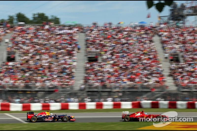 Fernando Alonso, Scuderia Ferrari en Sebastian Vettel, Red Bull Racing