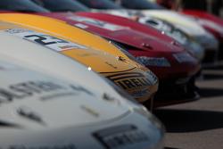 Alex Popow Ferrari of Ft Lauderdale 458TP, Jose Valera Ferrari of Ft Lauderdale 458CS, John Baker Fe