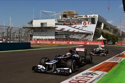 Pastor Maldonado, Williams y Sergio Pérez, Sauber