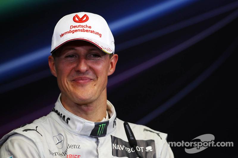 Tercer puesto Michael Schumacher, Mercedes AMG F1 en Conferencia de prensa de la FIA