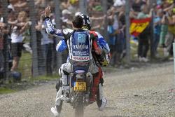 Jorge Lorenzo, Yamaha Factory Racing after crashing