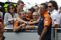Race winner Casey Stoner, Repsol Honda Team