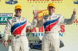 Race winners Joao Barbosa and Darren Law