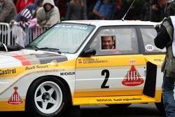 Andre Lotterer in the Audi Quattro