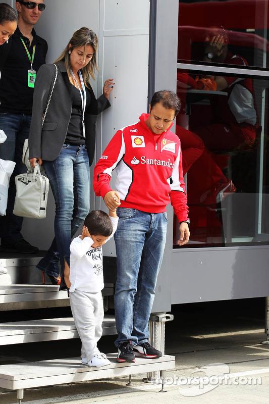 Felipe Massa, Ferrari with his family