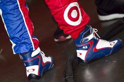 Juan Pablo Montoya's shoes