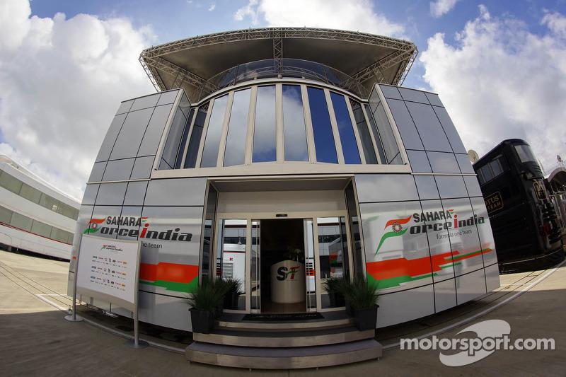 Sahara Force India F1 Team motorhome