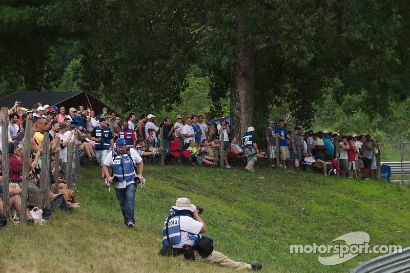 Crowd at the Chicane