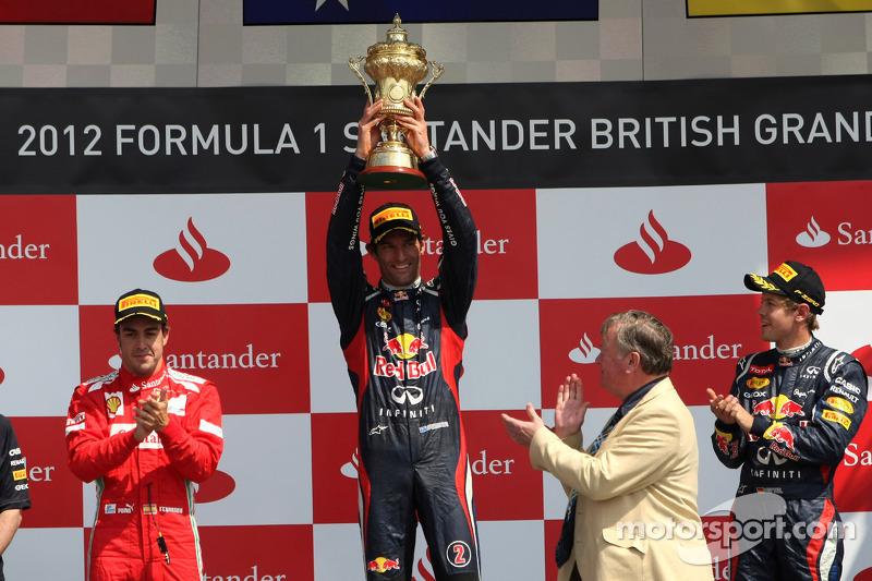 2012: 1. Mark Webber, 2. Fernando Alonso, 3. Sebastian Vettel