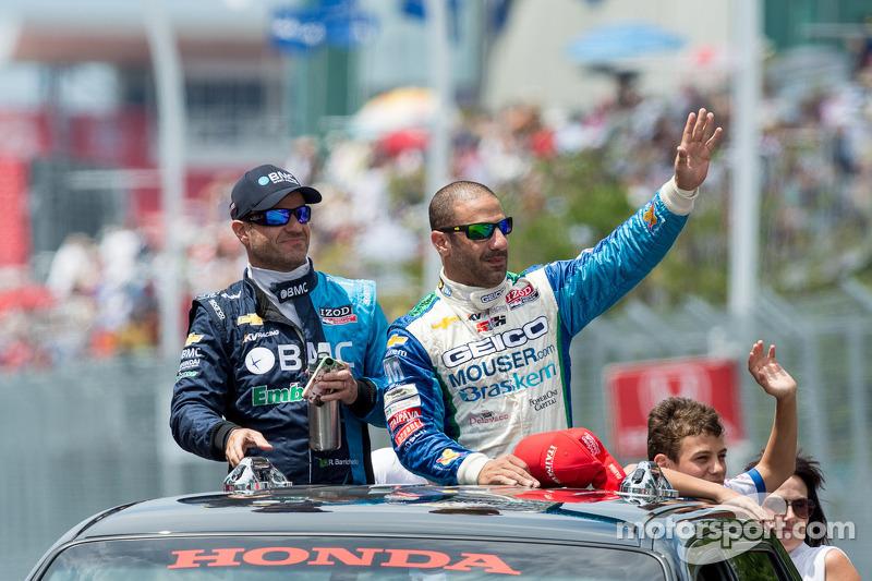 Rubens Barrichello and Tony Kanaan