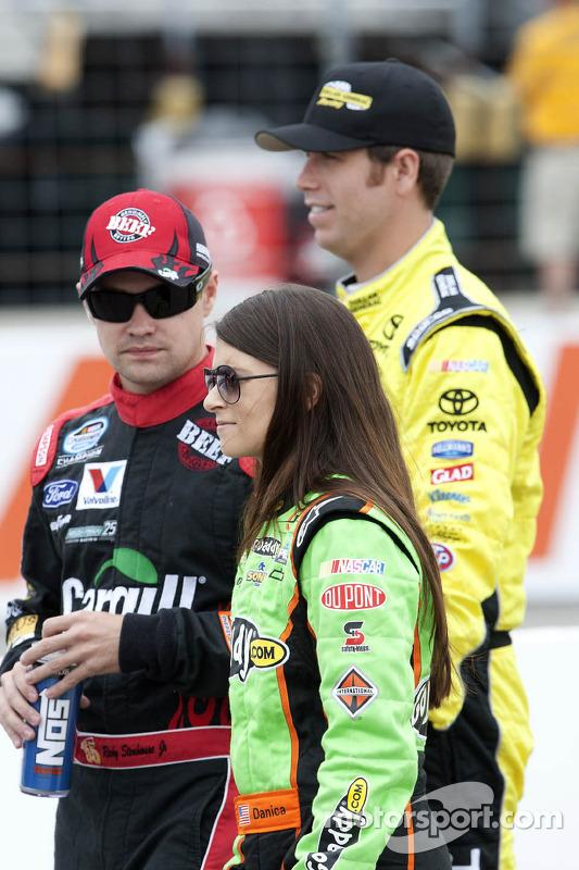 Danica Patrick en Ricky Stenhouse Jr.