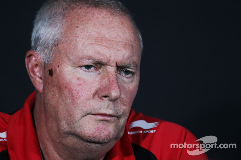 John Booth, Marussia F1 Team Team Principal in de FIA persconferentie