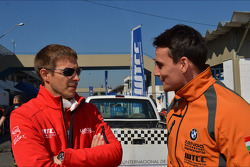 Alexey Dudukalo, SEAT Leon WTCC, Lukoil Racing Team and Norbert Michelisz, BMW 320 TC, ZengoMotorsport